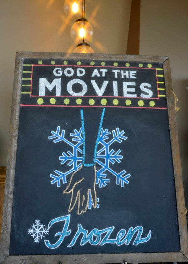 FROZEN, God at the Movies & the Weekend that Was